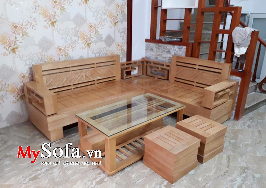 Bộ Sofa gồ sồi đẹp AmiA SFG011