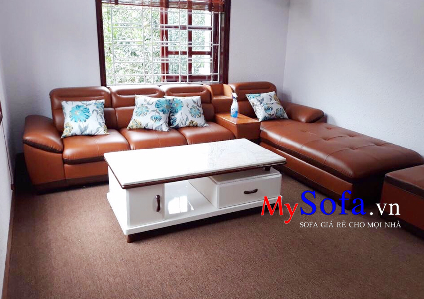 Bộ ghế Sofa da kê phòng khách lớn AmiA SFD106
