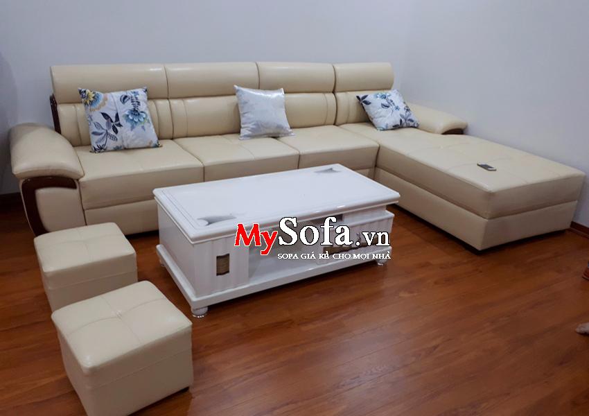 Bộ Sofa da cao cấp AmiA SFD142 góc chữ L