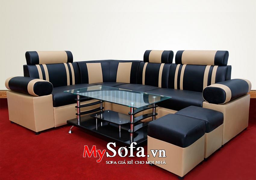 Hình ảnh bộ Sofa da giá rẻ, đẹp AmiA SFD026