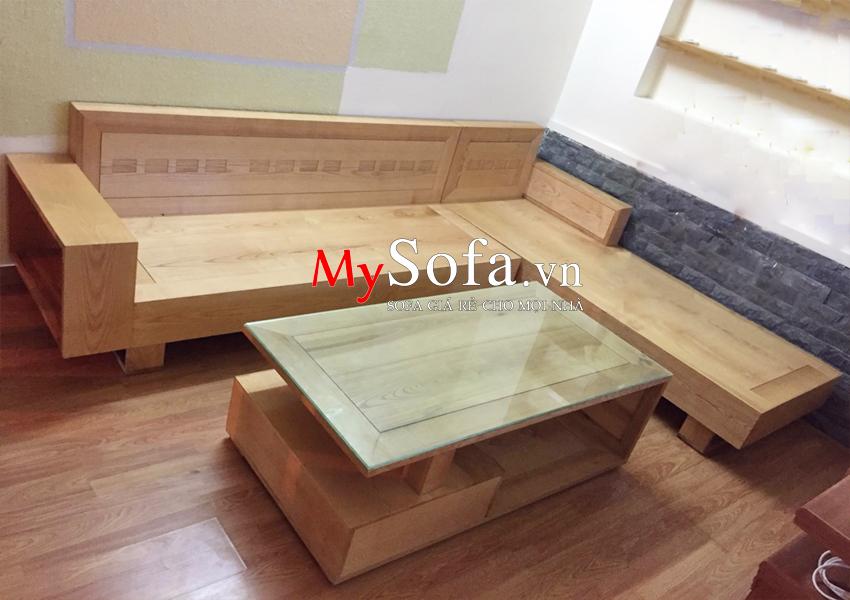 Hình ảnh ghế Sofa gỗ sồi AmiA SFG2405 tại nhà khách hàng
