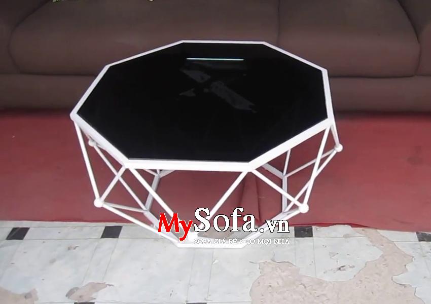 Hình ảnh bàn trà sofa sang trọng mặt kính AmiA BTR155
