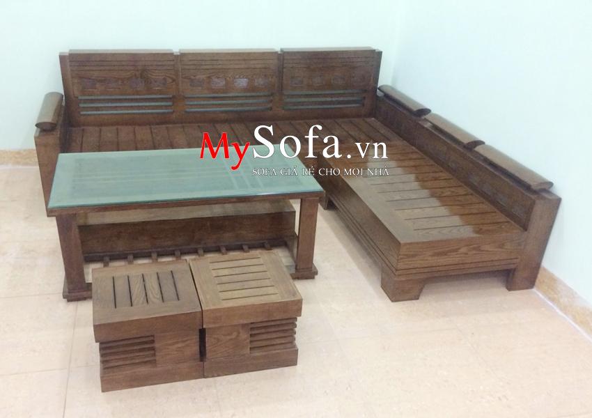 Bộ ghế Sofa gỗ AmiA SFG017 hiện đại và sang trọng