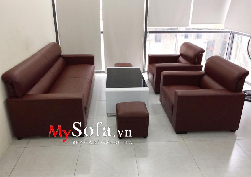 Hình ảnh mẫu Sofa da đẹp giá rẻ kê tại nhà khách hàng