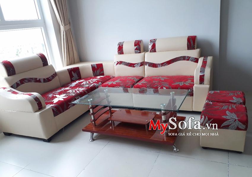 Sofa đẹp giá rẻ AmiA SFD138 họa tiết hoa lá