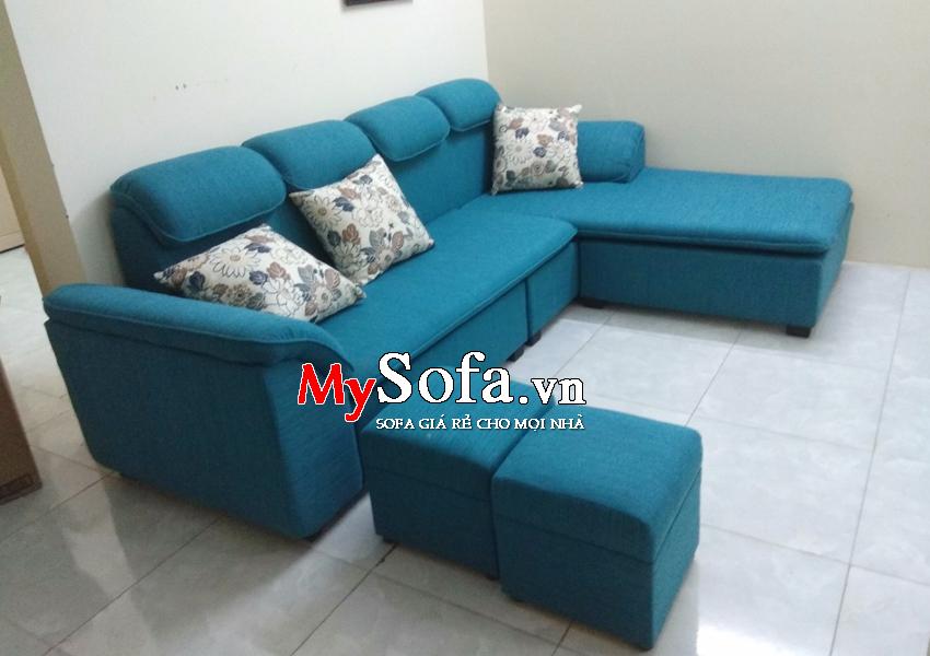 Hình ảnh Mẫu Sofa nỉ dạng góc AmiA SFN069