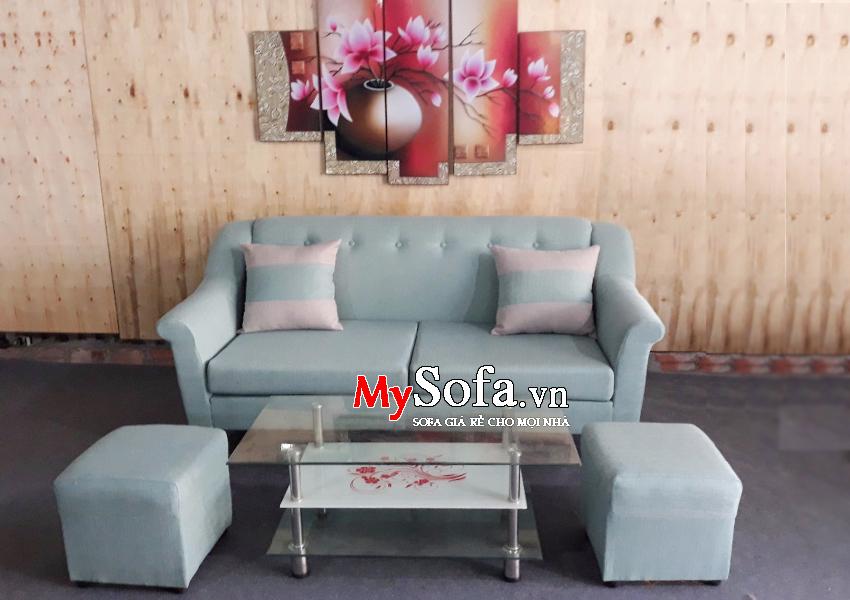 Hình ảnh ghế Sofa văng mini chất liệu nỉ AmiA SFV155
