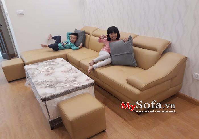 Mẫu ghế Sofa góc đẹp cho phòng khách AmiA SFD097