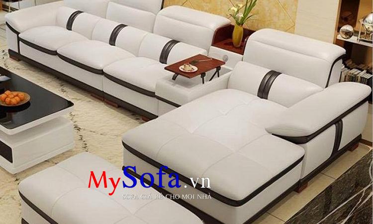 Hình ảnh mẫu Sofa da cao cấp, sang trọng AmiA SFD106