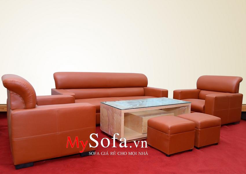Mẫu Sofa da phòng khách AmiA SFD032 đẹp, giá rẻ