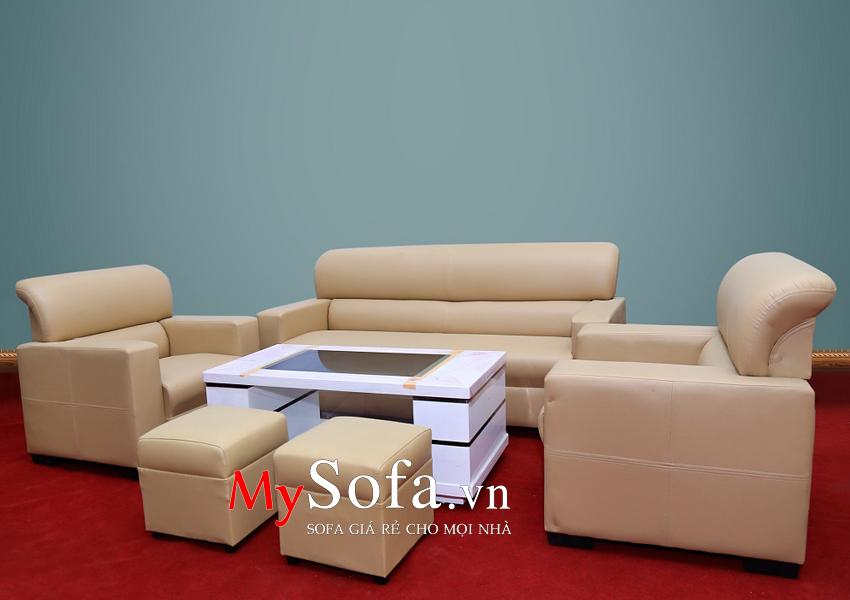 Mẫu Sofa da AmiA SFD032 phù hợp cho phòng khách nhỏ, văn phòng làm việc