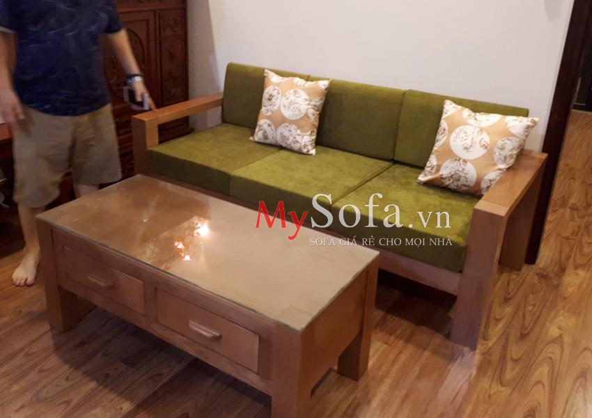 Bộ ghế Sofa văng gỗ mini AmiA SFG029