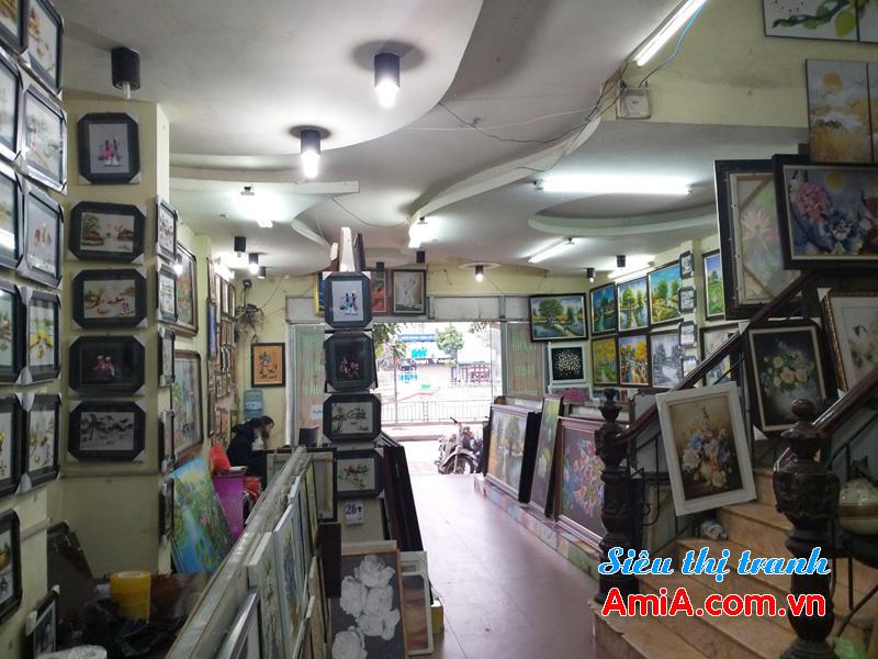 Hình ảnh cửa hàng bán tranh treo tường đẹp