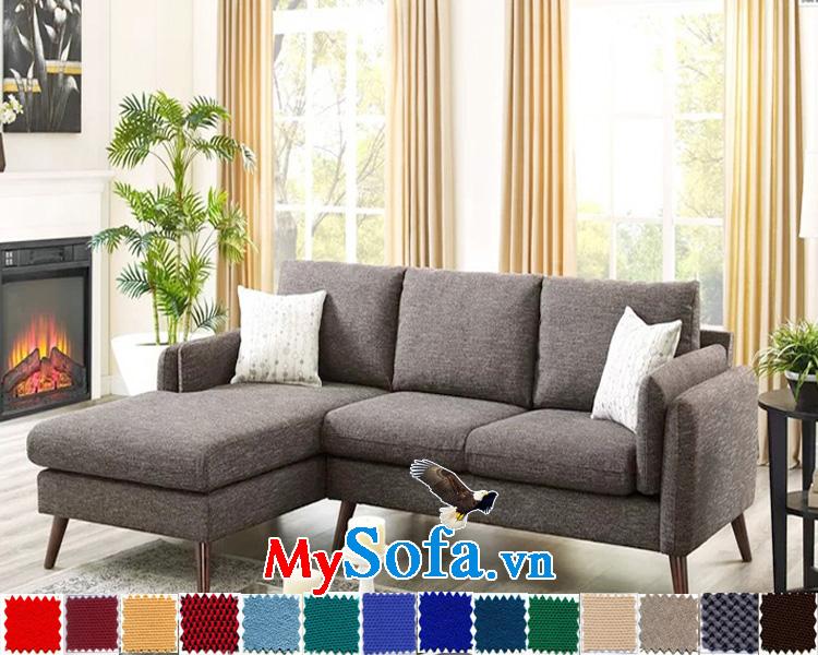 Mẫu ghế sofa nỉ góc chữ L đẹp, nhỏ xinh