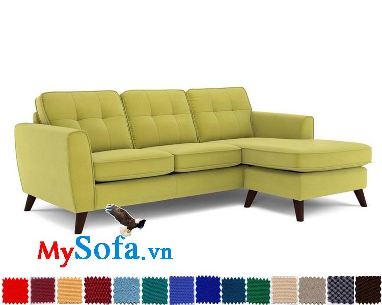 Ghế sofa nỉ dạng góc chữ L đẹp MyS-1910887
